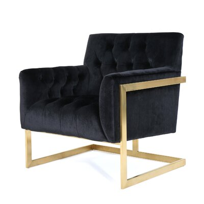 Hayden Modern Armchair Upholstery: Black