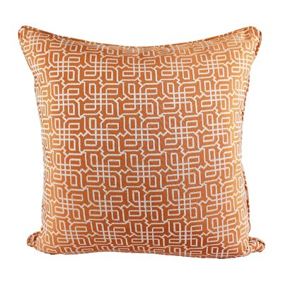 Lounsbury Cozy Jacquard Plaid Pillow Cover Color: Orange