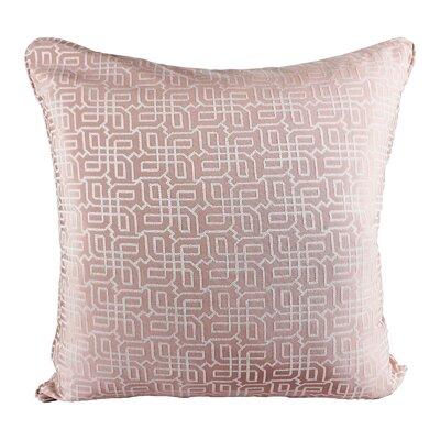 Lounsbury Cozy Jacquard Plaid Pillow Cover Color: Pink