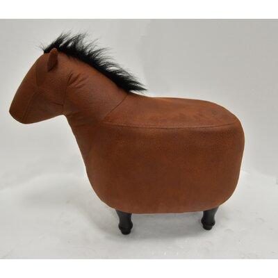 Quattlebaum Horse Ottoman Upholstery: Dark Brown, Color: Espresso