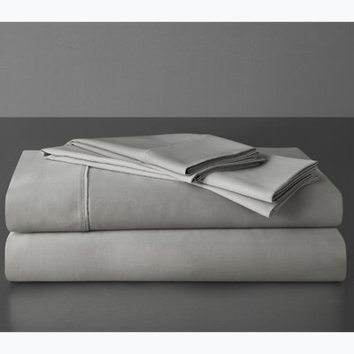 Sullivan 400 Thread Count 100% Cotton Sheet Set Size: King, Color: Dove