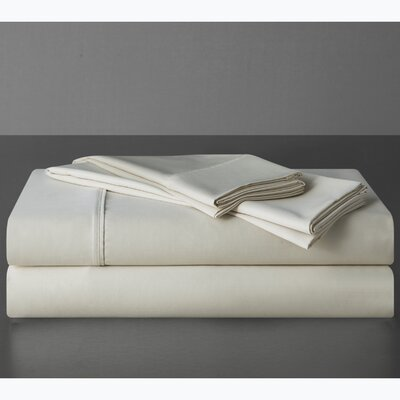 Sullivan 400 Thread Count 100% Cotton Sheet Set Size: King, Color: Ecru