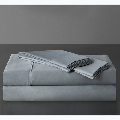 Sullivan 400 Thread Count 100% Cotton Sheet Set Size: Queen, Color: Mineral