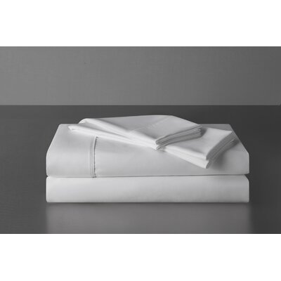 Sullivan 400 Thread Count 100% Cotton Sheet Set Size: King, Color: White