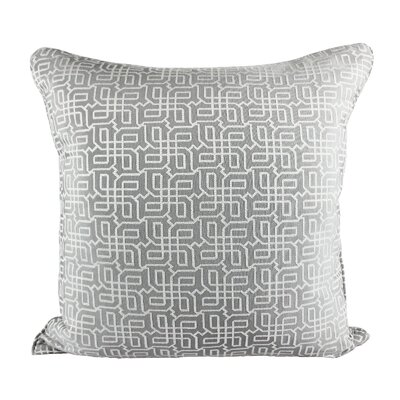 Lounsbury Cozy Jacquard Plaid Pillow Cover Color: Gray