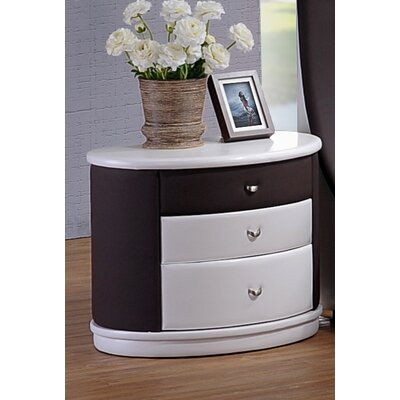 Roussel 3 Drawer Nightstand