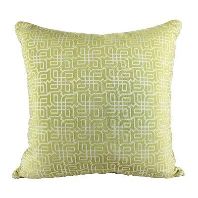 Lounsbury Cozy Jacquard Plaid Pillow Cover Color: Green