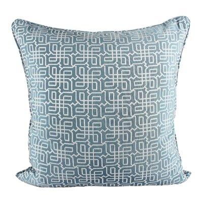 Lounsbury Cozy Jacquard Plaid Pillow Cover Color: Turquoise