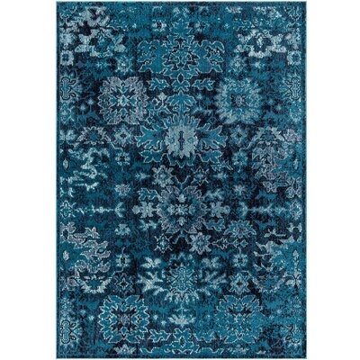 Starlight Floral Blue Indoor/Outdoor Area Rug Rug Size: Rectangle 52 x 72