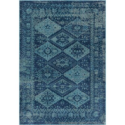 Starlight Geometric Blue Indoor/Outdoor Area Rug Rug Size: Rectangle 79 x 102