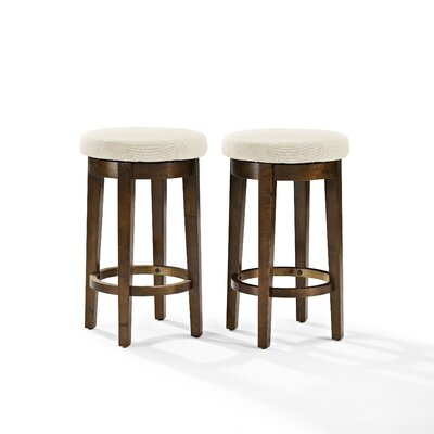 Hoskinson 26 Swivel Bar Stool Color: Creme