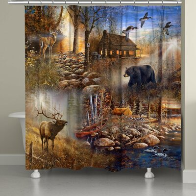Stalder Forest Collage Shower Curtain