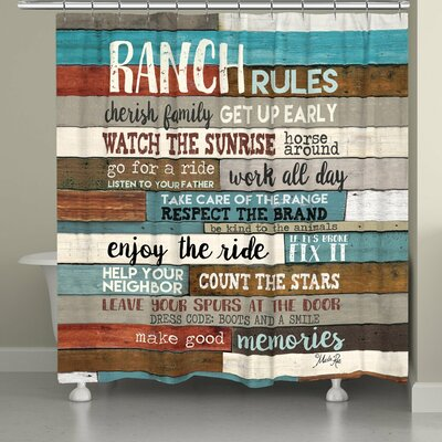 Stallman Southwest Ranch Rules Shower Curtain