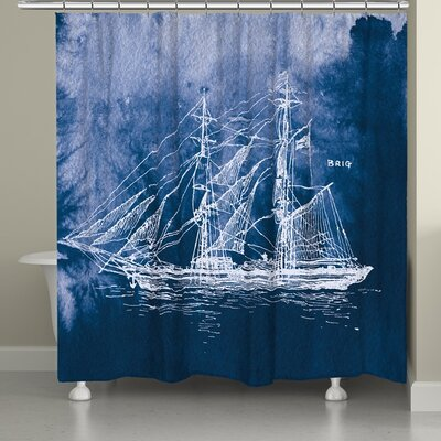 Edgeworth Nautical Sailing Ship Shower Curtain