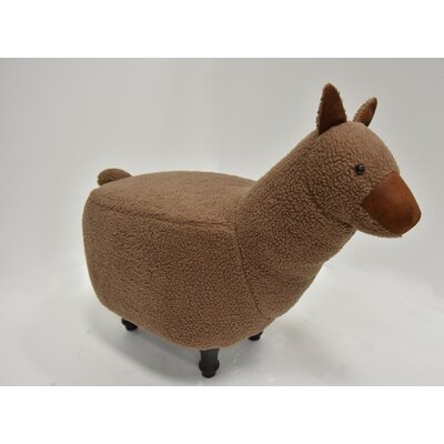 Hockman Lama Animal Ottoman Upholstery: Mocha, Color: Espresso