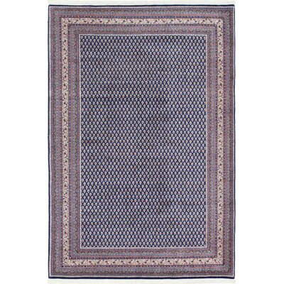 One-of-a-Kind Westcott Hand-Woven Wool Navy/Ivory Area Rug