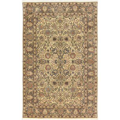 One-of-a-Kind Ritchey Hamadan Hand-Woven Wool Ivory Area Rug
