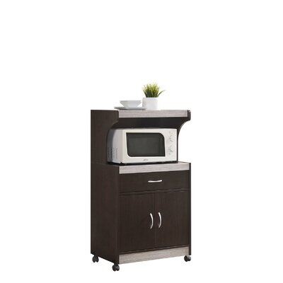 Blase Microwave Cart Base Finish: Chocolate-Grey