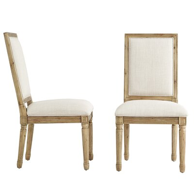 Lachance Rectangular Upholstered Dining Chair Upholstery Color: Beige