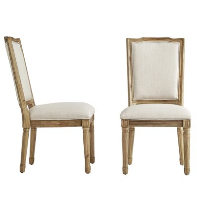 Lachance Ornate Upholstered Dining Chair Upholstery Color: Beige