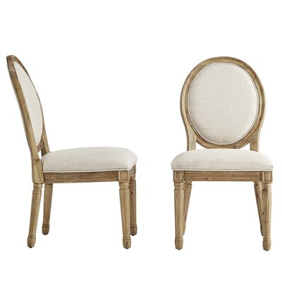 Lachance Round Upholstered Dining Chair Upholstery Color: Beige