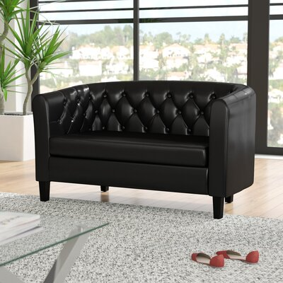 Beaton 2 Seater Loveseat Upholstery: Black