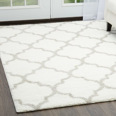 McSpadden Trellis Ivory Area Rug with Rug Pad Rug Size: Rectangle 311 x 53