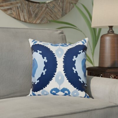 Meetinghouse Boho Geometric Print Throw Pillow Size: 26 H x 26 W, Color: Navy Blue