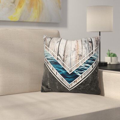 Striped Materials of Nature Throw Pillow