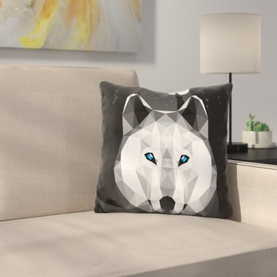 Marvine Tundra Wolf Throw Pillow