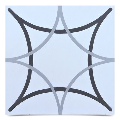 Sebta 8 x 8 Cement Field Tile in Gray/Black