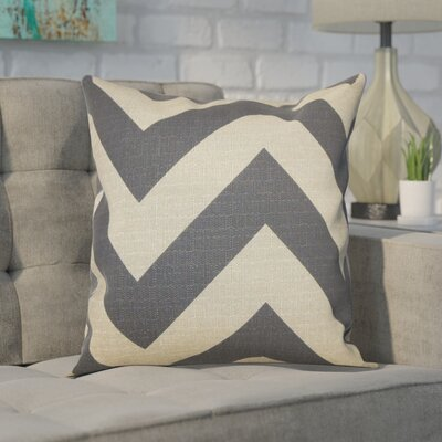 Spadafora 100% Cotton Throw Pillow Color: Charcoal / Natural, Size: 20 H x 20 W
