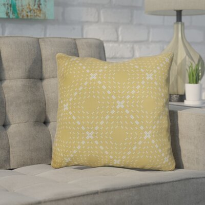Shirley Outdoor Throw Pillow Size: 16 H x 16 W x 3 D, Color: Yellow