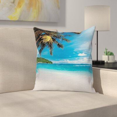 Exotic Island Beach Square Pillow Cover Size: 16 x 16