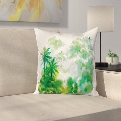 Forest Image Cushion Pillow Cover Size: 24 x 24