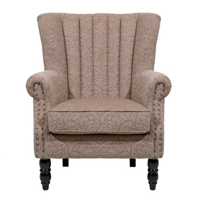 Felten Wingback Chair Finish: Light Brown