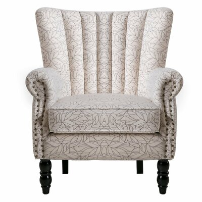 Felten Wingback Chair Finish: Beige