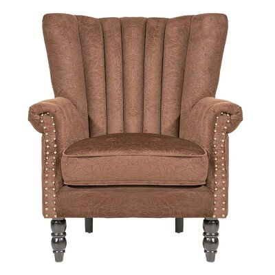 Felten Wingback Chair Finish: Brown
