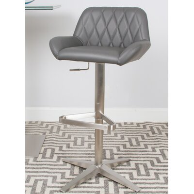 Dicarlo Brushed 22 Swivel Bar Stool