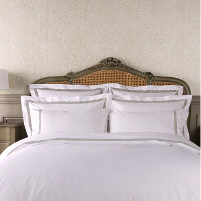 Suismon Boudoir Pillow Case Color: White/Dove Gray