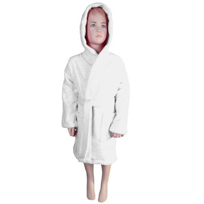 Falbo Hooded Kids Bathrobe Color: White