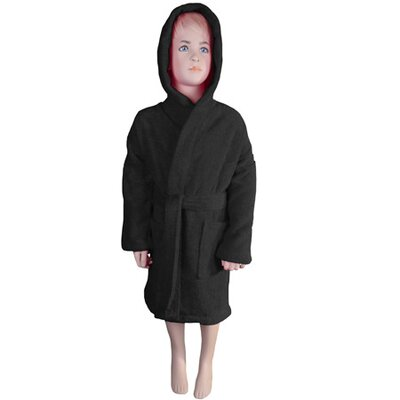 Falbo Hooded Kids Bathrobe Color: Black