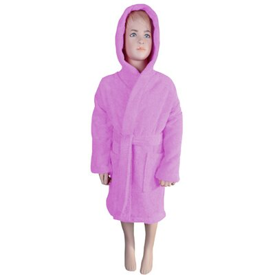 Falbo Hooded Kids Bathrobe Color: Light Pink
