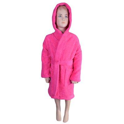 Falbo Hooded Kids Bathrobe Color: Hot Pink