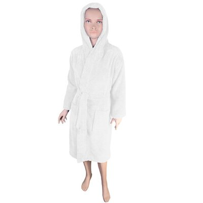 Solid Kids Bathrobe Color: White