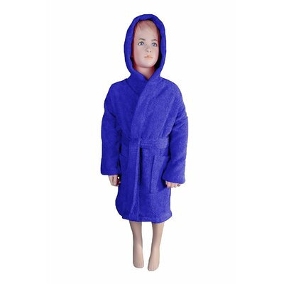 Solid Kids Bathrobe Color: Navy Blue