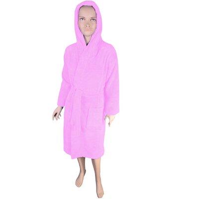 Solid Kids Bathrobe Color: Light Pink