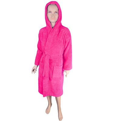 Solid Kids Bathrobe Color: Hot Pink