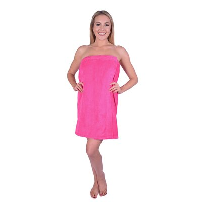 Solid Terry Spa Body Wrap Color: Hot Pink