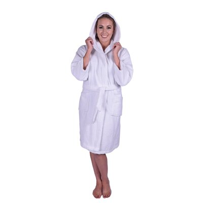 Teenager Petite Bathrobe Color: White